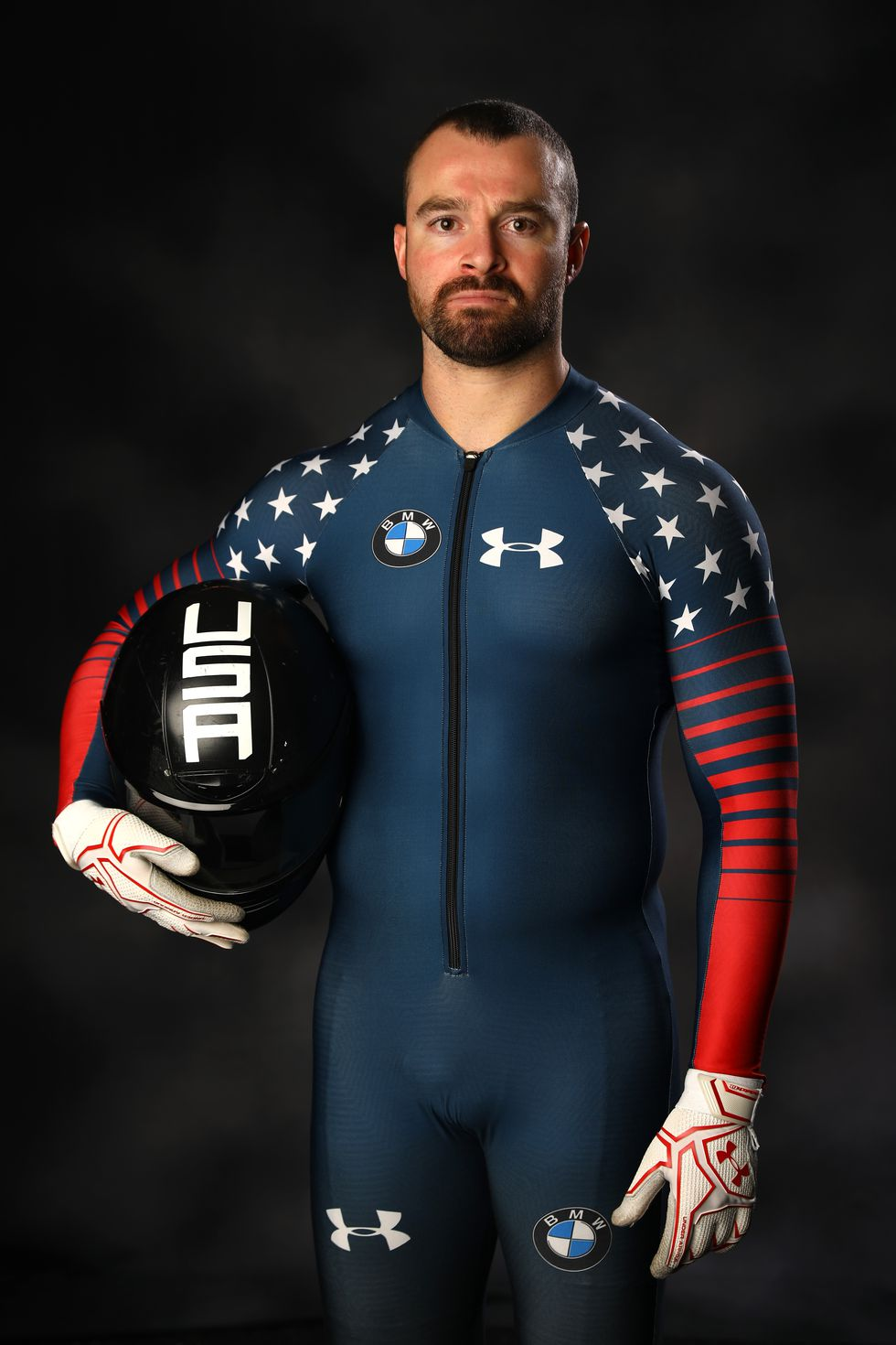 Carlo Valdes, USA The bobsledder's official Team USA portrait.