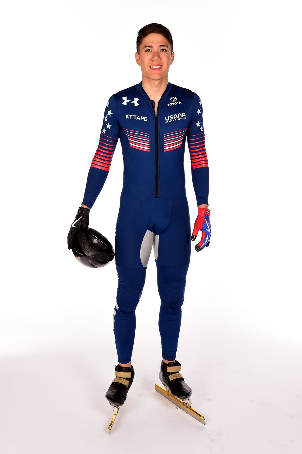 J.R. Celski, USA The speedskater's Team USA portrait ahead of the PyeongChang Games.