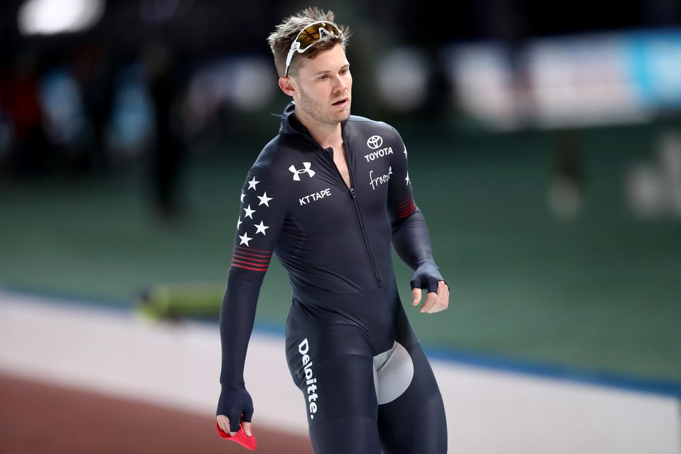 Joey Mantia, USA The speedskater competes at the 2017 World Cup.