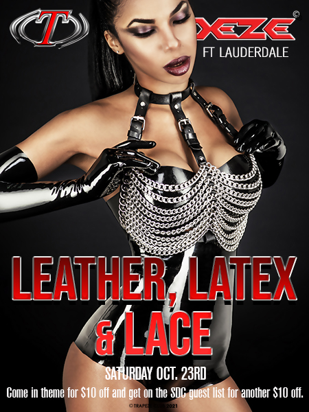 Latex, Leather & Lace at Trapeze Swingers Club Atlanta and South Florida