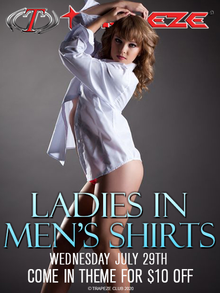 Ladies In Men's Shirts at Trapeze Swingers Club South Florida